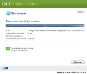 Darmowy skaner antywirusowy on line - ESET Online Scanner